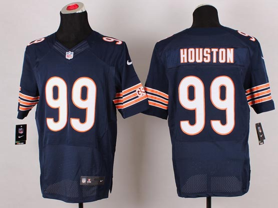 Mens Nfl Chicago Bears #99 Houston Blue (2014 New) Elite Jersey(sn)