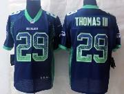 Mens Nfl Seattle Seahawks #29 Thomas Iii Drift Fashion Dark Blue Elite Jersey