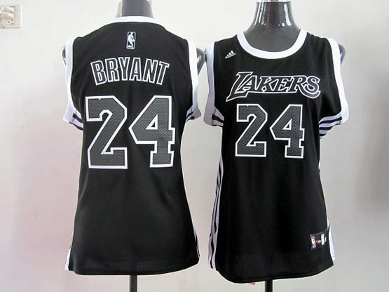 Women  Nba Los Angeles Lakers #24 Bryant Black (black Number) Jersey