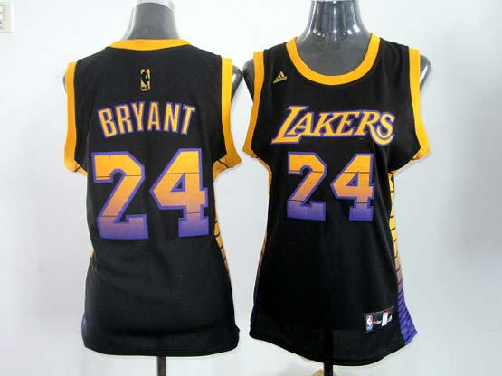Women  Nba Los Angeles Lakers #24 Bryant Black (color Number) Jersey