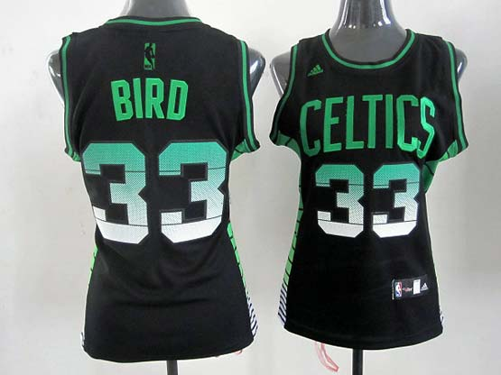 Women  Nba Boston Celtics #33 Bird Black (colour Number) Jersey