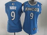 Women  Nba Minnesota Timberwolves #9 Rubio Blue Jersey