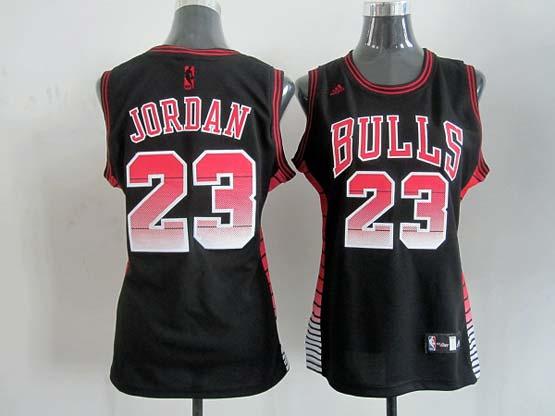 Women  Nba Chicago Bulls #23 Jordan Black (colour Number) Jersey
