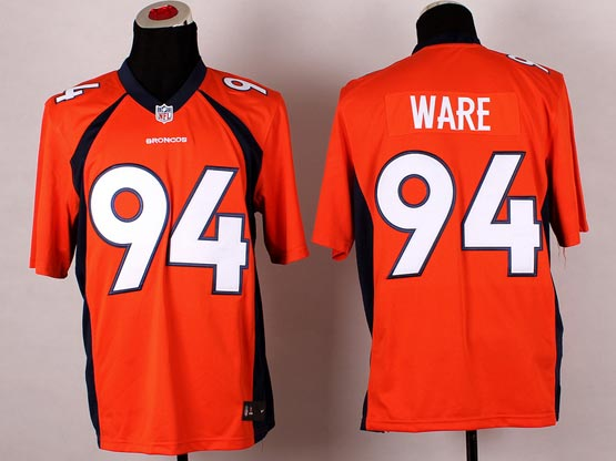 Mens Nfl Denver Broncos #94 Ware Orange 2014 Game Jersey