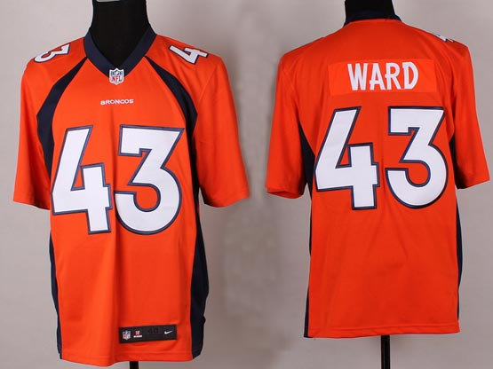Mens Nfl Denver Broncos #43 Ward Orange 2014 Game Jersey
