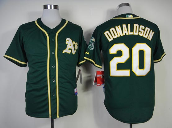 Mens mlb oakland athletics #20 donaldson green (2014 new) Jersey
