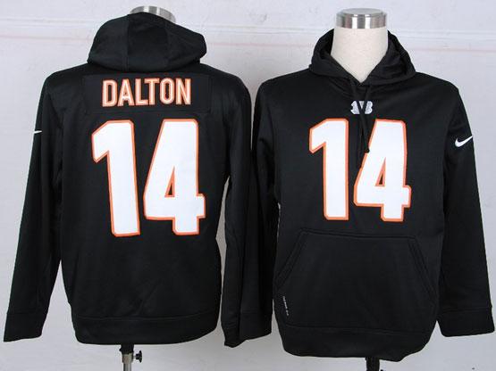 Mens Nfl Cincinnati Bengals #14 Dalton Black Hoodie Jersey