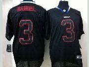 mens nfl Buffalo Bills #3 EJ Manuel black (light out) elite jersey