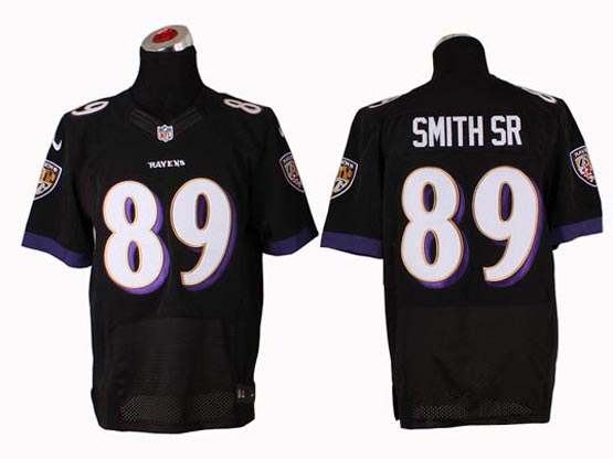 Mens Nfl Baltimore Ravens #89 Steve Smith Sr Sr Black (2014 New) Elite Jersey