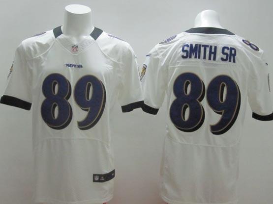 Mens Nfl Baltimore Ravens #89 Steve Smith Sr Sr White (2014 New) Elite Jersey