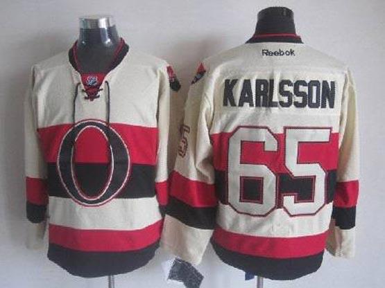 Mens nhl ottawa senators #65 karlsson cream Jersey