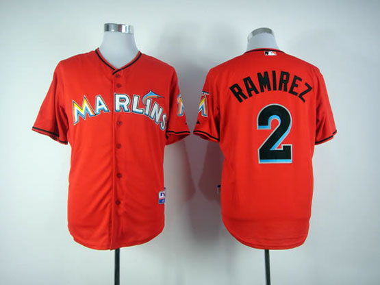 Mens mlb miami marlins #2 ramires red Jersey