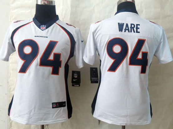 Youth Nfl Denver Broncos #94 Ware White (2014 New) Limited Jersey