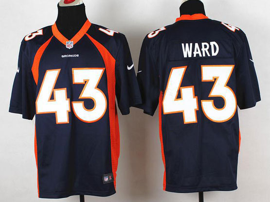 Mens Nfl Denver Broncos #43 Ward Blue 2014 Game Jersey