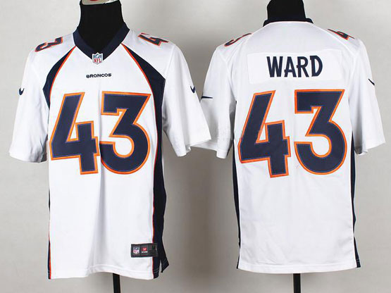 Mens Nfl Denver Broncos #43 Ward White 2014 Game Jersey