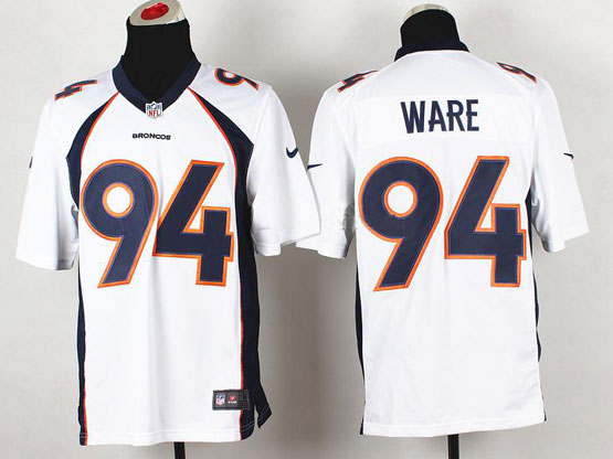 Mens Nfl Denver Broncos #94 Ware White 2014 Game Jersey