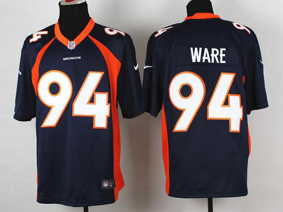 Mens Nfl Denver Broncos #94 Ware Blue 2014 Game Jersey