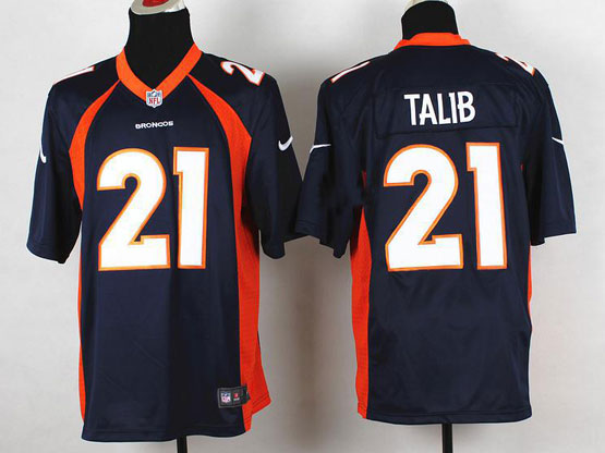 Mens Nfl Denver Broncos #21 Talib Blue 2014 Game Jersey