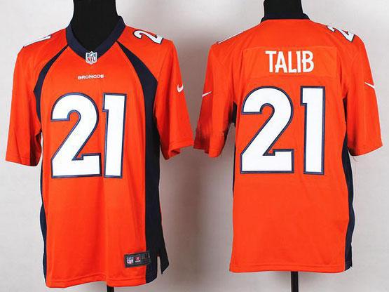 Mens Nfl Denver Broncos #21 Talib Orange 2014 Game Jersey