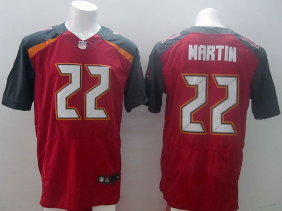 Mens Nfl Tampa Bay Buccaneers #22 Martin Red (2014 New) Elite Jersey