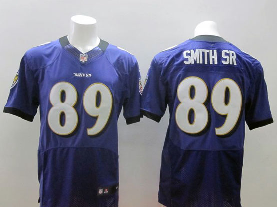 Mens Nfl Baltimore Ravens #89 Steve Smith Sr Sr Purple Elite Jersey