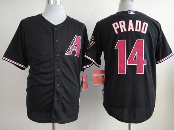 Mens mlb arizona diamondbacks #14 prado black Jersey