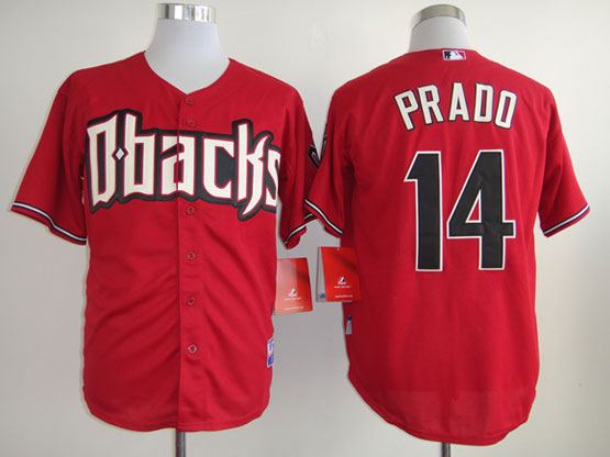 Mens mlb arizona diamondbacks #14 prado red Jersey