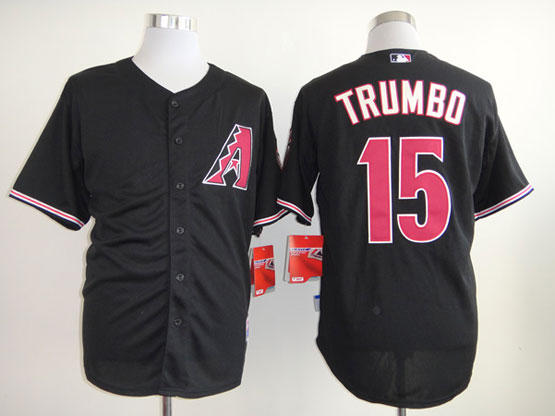 Mens mlb arizona diamondbacks #15 trumbo black Jersey