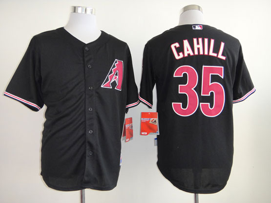 Mens mlb arizona diamondbacks #35 cahill black Jersey