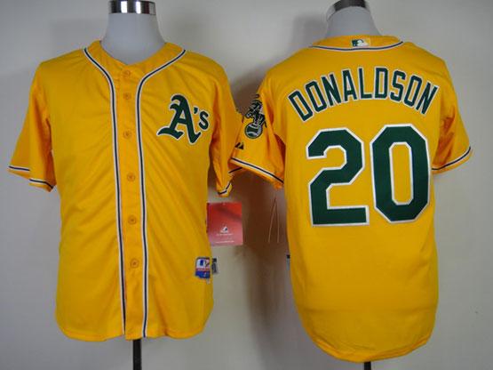 Mens mlb oakland athletics #20 donaldson yellow Jersey