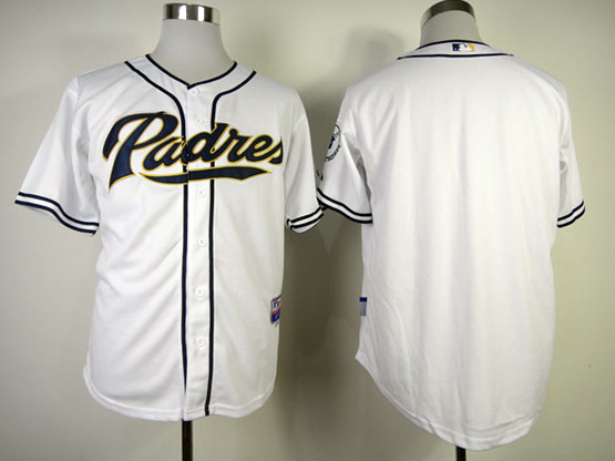 Mens mlb san diego padres (blank) white Jersey
