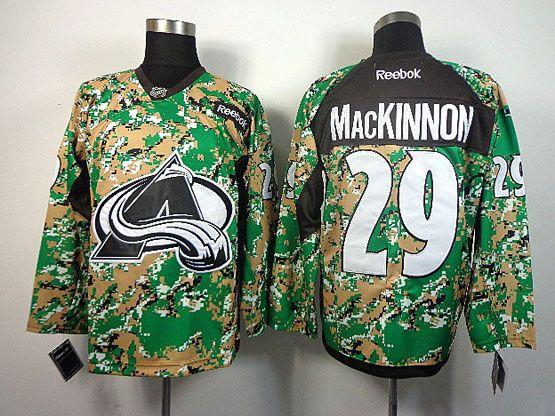 Mens reebok nhl colorado avalanche #29 mackinnon (2014 green camo) Jersey