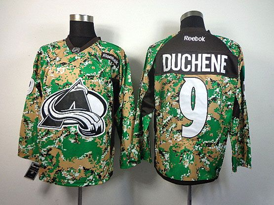 Mens reebok nhl colorado avalanche #9 duchene (2014 green camo) Jersey