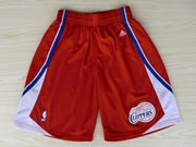 Nba Los Angeles Clippers Red Short (new Mesh Style)