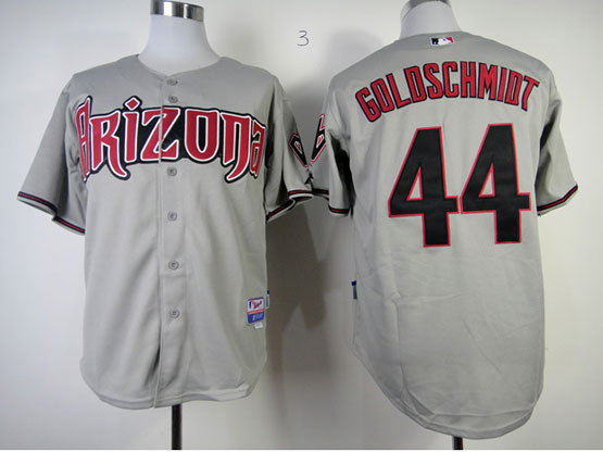 Mens Mlb Arizona Diamondbacks #44 Paul Goldschmidt Gray Jersey