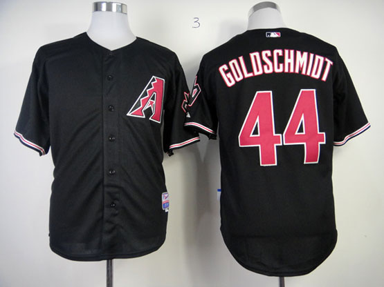 Mens Mlb Arizona Diamondbacks #44 Paul Goldschmidt Black Jersey