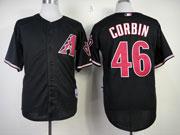 Mens mlb arizona diamondbacks #46 corbin black Jersey