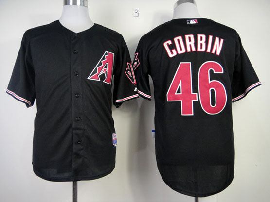 Mens mlb arizona diamondbacks #46 corbin black Jersey