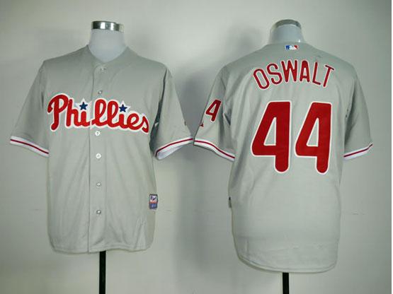 Mens Mlb Philadelphia Phillies #44 Oswalt Gray Jersey