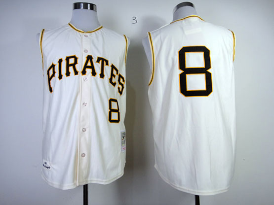 Mens Mlb Pittsburgh Pirates #8 Stargell 1960 Throwbacks White Jersey