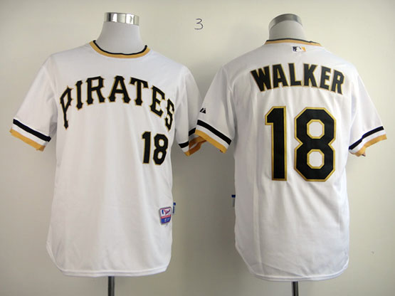 Mens Mlb Pittsburgh Pirates #18 Walker White Pullover Jersey