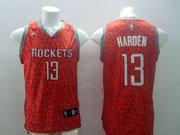 Mens Nba Houston Rockets #13 Harden Red Leopard Grain Jersey