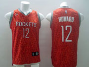 Mens Nba Houston Rockets #12 Howard Red Leopard Grain Jersey