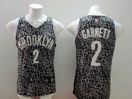 Mens Nba Brooklyn Nets #2 Garnett Leopard Grain Jersey
