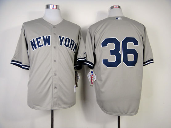 Mens Mlb New York Yankees #36 Betances Gray Jersey(no Name)