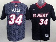 Mens Nba Miami Heat #34 Allen (2014 Noche Latina) Black Jersey
