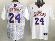 Mens Nba Los Angeles Lakers #24 Bryant (2014 Noche Latina) White Jersey