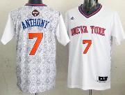 mens nba New York Knicks #7 Carmelo Anthony (2014 noche latina) white jersey
