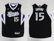 Mens Nba Sacramento Kings #15 Cousins Black Jersey
