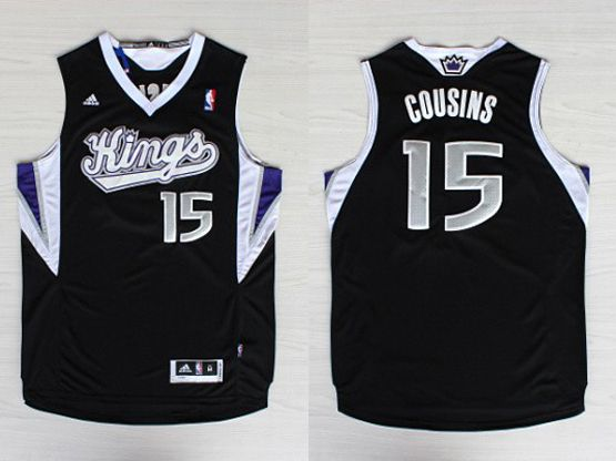 Mens Nba Sacramento Kings #15 Cousins Black Jersey